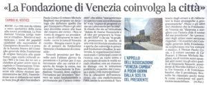 La Fondazione di Venezia coinvolga la città