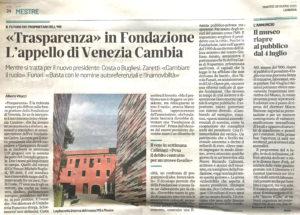 VeneziaCambia su Fondazione Venezia